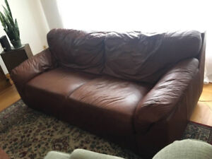 Brown Leather Couch Mint Condition