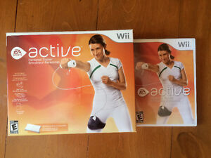 Wii Active DVD and Fitness kit.