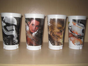 SUBWAY STAR WARS THE FORCE AWAKENS COLLECTOR CUPS (X4)