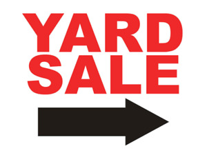 Yard sale August 24th 8am