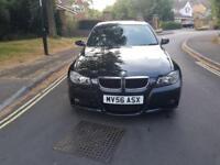 2006 BMW 320 2.0D M SPORT 4 DOOR SALOON BLACK MANUAL 3 OWNERS