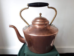 Vintage Copper Tea Kettle. Made In Douro, Portugal