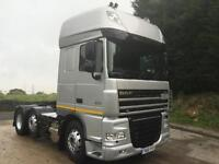 2011 61 DAF XF 105.510 SS 6x2 fridge microwave leather slider xenons immaculate