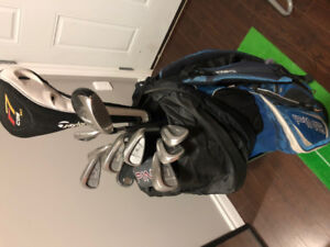 Bag of full golf set - Taylormade/Callaway/Ping clubs - right