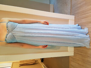 BCBG Light Blue Grad Dress