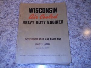 Wisconsin AENL Air Cooled Engine Manual
