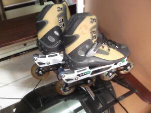 Patins a roues allignées et protection livraison gratuite possib