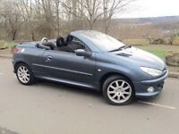 2007 Peugeot 206 cc 1.6 convertible only 67 k ## electric hard top # s/history # 2 lady owners