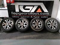"18"" Genuine Ford Ranger Wildtrack Alloy Wheels & Tyres"