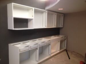 135+-inches of top cabinets and bottom cabinets