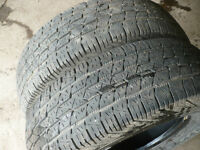 Two   235-75-15 tires  $50.00