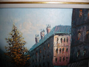 "Henry Rogers ""Paris Street, Evening"" Original Oil Painting Stratford Kitchener Area image 6"