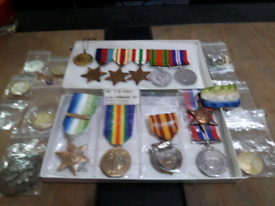 Ww2 medals and extras as seen in picture