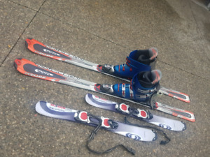 Reduced price 200$  Ski package.   Size  8  boots 2 sets of skis