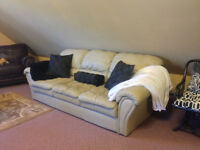 ***Beautiful Leather Couch and Love Seat***