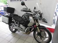 BMW R1200GS ABS, 09 REG 10824 MILES, BMW TOP CASE AND PANNIERS, ENGINE BARS...