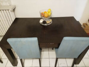 KITCHEN TABLE, CHAIRS, & BENCH