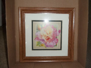 Beautiful Flower Framed Picture and Pig Picture