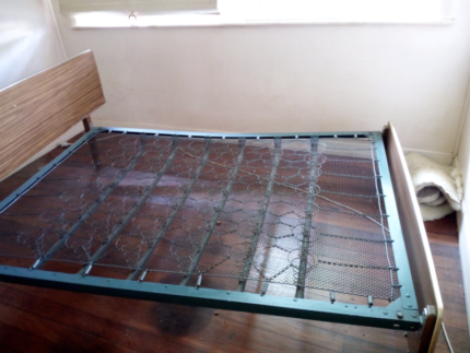 Antique double bed frame for sale