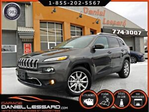 Jeep Cherokee LIMITED AWD, CUIR, GPS, TOIT, ANGLE MORT,  2018
