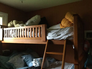 Single bed from top bunk