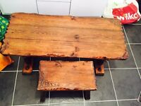 Rosewood Children's Table and Stool