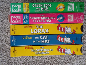 Lot of 5 VHS Dr. Seuss videos London Ontario image 2