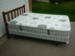 Double Bed - Head Board - Rails - Mattress - Box Spring