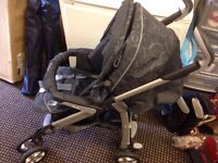 Silver Cross baby car seat and Pushchair