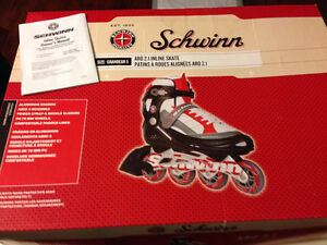 Used set of rollerblades skates + red bag + protective gear Gatineau Ottawa / Gatineau Area image 3