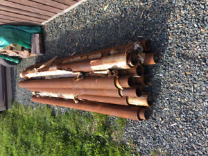 "Pipe schedule 40 - 3"" and 4"" @ $7.00 for a 7 foot length"