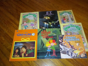 Children's 80's 7 Book Lot Gremlins E.T. Cabbage Patch Kids