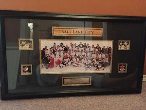 2002 Olympic Men's Hockey Gold-framed