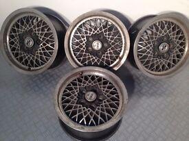 "MSW 15"" 7j 5x112 original deep dish alloy wheels, mercedes, vw audi, not borbet, azev, penta, tm"