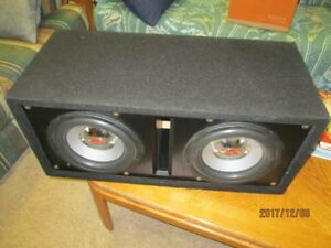 "subwoofer dual 10"" with amp"