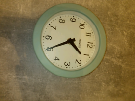 Small mint green clock