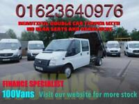 FORD TRANSIT DOUBLE CAB TIPPER 2.2TDCI NO REAR SEATS LWB 100PS