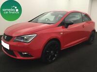 £174.99 PER MONTH RED 2014 SEAT IBIZA 1.4 SC 3 DOOR DIESEL MANUAL