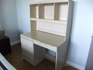 Desk with hutch. Solid wood fronts