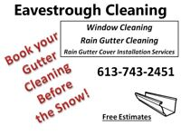 Rain Gutter Cleaning Services LAST CHANCE UNTIL SRING!