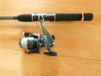 Canne moulinet Zebco, Fishing rod and reel