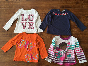 Very cute girls 2T size Long sleeves Shirts for $15 Oakville / Halton Region Toronto (GTA) image 2