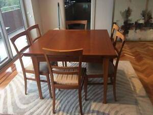 Danish designed and made dining table and chairs - as new Darling Point Eastern Suburbs Preview