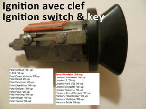 Barillet Ignition switch