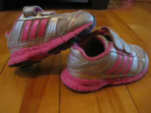 Toddler girls size 8 adidas shoes