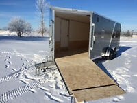 2016  All Aluminum Snowmobile Trailer drive in and out 7x23