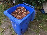Firewood drying bin, full of pine cones !!