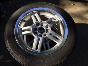 Set of All Season Tires with Alloy Rims Kitchener / Waterloo Kitchener Area image 5