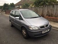 VAUXHALL ZAFIRA 2003 7 SEATER 1.8 SILVER LONG MOT DRIVES LOVELY