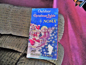 Vintage Outdoor 1930's Christmas lights by Noma Cat. No. 3000
